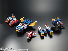 """Bandai Tamashii Nations Soul of Chogokin """"Voltes V"""" Action Figure Marking the anniversary comes a revamped color edition of the popular Soul of Chogokin Cool Robots, Cool Toys, Kids Power Wheels, Pawer Rangers, Robot Girl, Mecha Anime, Super Robot, Neon Genesis Evangelion, 40th Anniversary"""