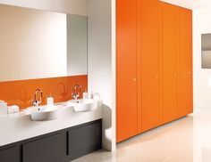 Commercial toilet partition - UNITY - Armitage Venesta