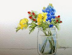 Watercolor Paintings by RoseAnn Hayes: Wildflower Watercolor Painting