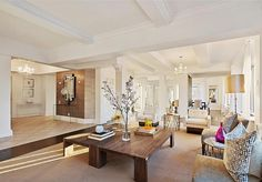 Look no further than this $10 million New York listing. Spanning 3,987 square feet, this four-bedroom, four-bathroom (plus a half bath) home sits in one of the most prestigious cooperatives on Park Avenue. Ten-foot beamed ceilings and oversize windows drench the space in natural light, and treetop views of Central Park provide serenity in the middle of the city. The home includes a spacious foyer, living room, family room, eat-in kitchen, wood-paneled library, and even a private elevator ...