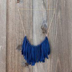 Flirty Fringe Necklace | 15 Ways to Turn T-Shirts into Jewelry