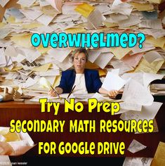 Hundreds of No Prep and no prep self-grading rigorous and challenging resources for Algebra, PreCalculus, and Calculus. Make your life easier, you'll be glad you did We Are Teachers, Precalculus, Secondary Math, Math Resources, Algebra, Prepping, High School, Classroom, Activities