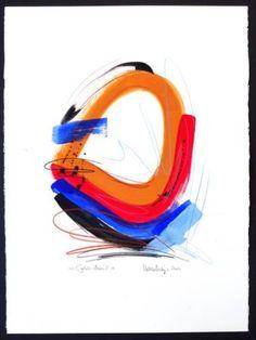 """Saatchi Art Artist Volker Mayr; Painting, """"Cyber-Man 2 - Gouache und Ölkreide"""" #art"""