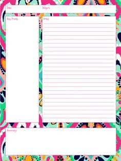 Free Printable Notes  School Stuff    Note School And