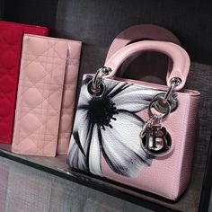 Hand painted mini Lady Dior....adorable! Lady Dior 26435d2e8f57b