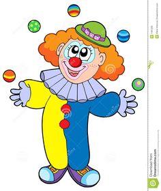 funny cartoon clowns clipart free clipart under my umbrella hey rh pinterest com free cloud clipart free clown clipart