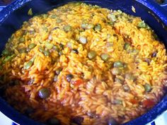 If you're going to cook Puerto Rican, you better know how to make arroz con gandules. No holiday dinner or family get together is complete without this hearty side dish of rice and pigeon peas. Infused with the flavor of sofrito and sazón, a well-cooked pot will form a much desired crust on bottom called the pegao. 4 to 6 servings