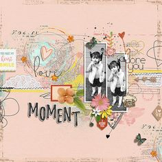 Moment by GianeDesigns- scrapbook layout with 2 black and white photos