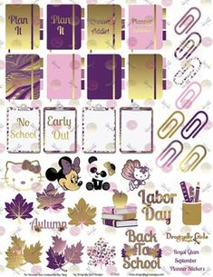 Printable Planner Stickers.Perfect for decorating and organizing your life…
