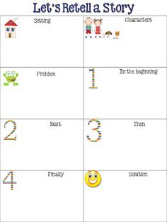 FREEBIE from Fun in First Grade: Retelling Chart.