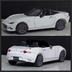 2015 Mazda MX-5 Miata Paper Car Free Paper Model Download - http://www.papercraftsquare.com/2015-mazda-mx-5-miata-paper-car-free-paper-model-download.html