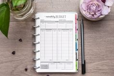 Monthly Budget - meet your financial goals and keep organized with these planner inserts!  Natalie Rebecca Design