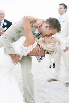 Most romantic kissing of the bride.