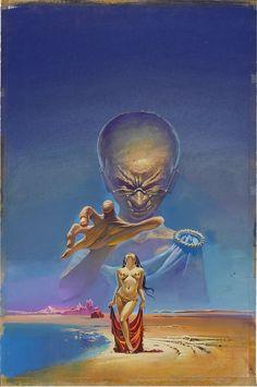 Bruce Pennington - Cover art for 'Master Mind of Mars' by Edgar Rice Burroughs Arte Sci Fi, Sci Fi Art, Sci Fi Kunst, Science Fiction Kunst, Bilal, Fantasy Kunst, Arte Horror, Fantasy Illustration, Pulp Art