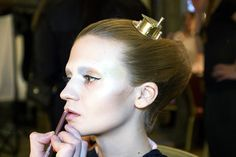 Liz Black, hair and make up #LFW #AW13 - Image by Bex Day