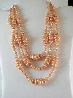 Golden Honey Comb Very Unique Vintage Necklace 6947