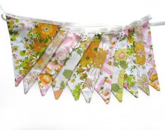 Baby bunting retro green/orange fabric. Cute!