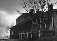 An abandoned house in 1945, totally haunted.   16 Vintage Photos Guaranteed To Creep You Out