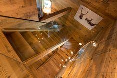 Casa Masso - Arte Rovere Antico Chalet Interior, Interior Design, Building Extension, Bohinj, Mountain Designs, Stairway To Heaven, Open Floor, Stairways, Floor Plans