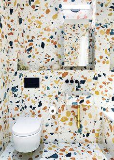 Best Terrazzo Wall Designs - Simplehomy [dot] com Terrazzo, Contemporary Interior, Modern Interior Design, Interior And Exterior, Contemporary Architecture, Interior Doors, Luxury Interior, Wc Symbol, Bathroom Interior Design