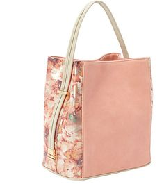 Samoe Coral Metallic Convertible Handbag