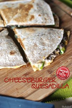 Quick and Easy (made with leftovers!!) Cheeseburger Quesadilla