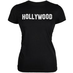 Hollywood Black Juniors Soft T-Shirt