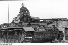 German soldier on a Panzer III.Russia 1942