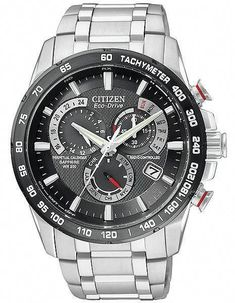 0cf86f6a24 Citizen Men s Chronograph Eco-Drive Gray Ion Plated Stainless Steel  Bracelet Watch Sleek