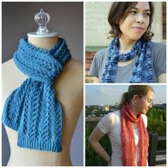 Lacy knits go fast once you've memorized the repeats, and the results are beautiful. Here are 9 FREE knitted lace scarf patterns to wear all year long.