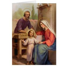 Funeral Holy Card | Holy Family Roman Catholic - family gifts love personalize gift ideas diy