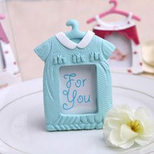 wedding favor Frame Dress Design Blue and Rose Red Baby Photo Frame For Picture 12pcs/lot(China (Mainland))