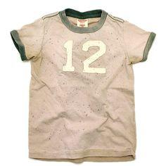 DENIM DUNGAREE(デニム&ダンガリー):ビンテージテンジク リンガー Tシャツ 16BEベージュ の通販【ブランド子供服のミリバール】