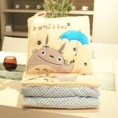 Ghibli My Neighbor Totoro Pillow + Quilt Blanket 2 in 1 Nap Helper Totoro. 15$USD