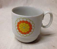 Coffee Mug Retro Flower Georges Briard Vintage