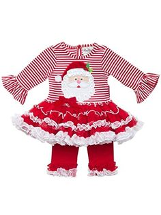 Rare Editions Baby Girls Santa Pettiskirt and Legging Set 36 Months -- Details can be found by clicking on the image.