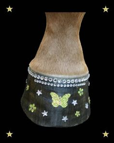 Hoofbling. All credit to www.equinebodybling.com. Some say tacky. I say AWESOME.
