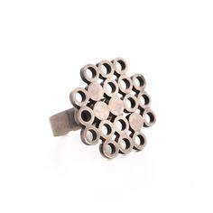 """Kaija Aarikka, vintage """"Spheres"""" ring. #Finland Jewlery, Silver Jewelry, Vintage Jewelry, Minimal Jewelry, Ring Bracelet, Bracelets, Jewelry Design, Jewelry Making, Stud Earrings"""