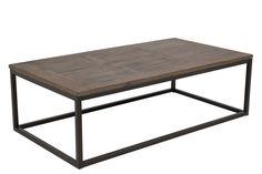 Rock sofabord udført i massiv grantræ og et flot sort metalstel 130 x 70 cm højde 40 cm kr. 2299
