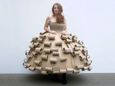 Costumes made of Recycling Cardboard Packaging