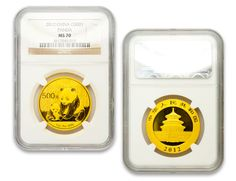 Silver and Gold Graded Coins Panda, Coins, Container, Cool Stuff, Gold, Beautiful, Cool Things, Coining, Rooms