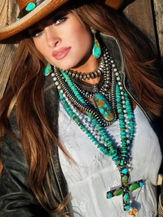 Absolutely Stunning is all anyone can say about this photo - great job Britwest! Love this look!  A attractive women wearing Turquoise Jewelry is all American Fashion and world class. There is no doubt Britwest has their act together and is addressing the fashion industry needs from our area of the world - The American Southwest!