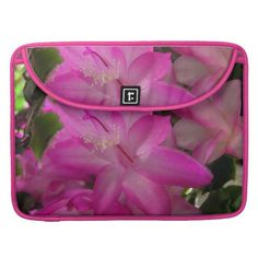Bright Pink Floral McBook Sleeve Sleeve For MacBook Pro  #zazzle