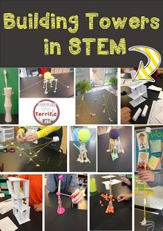 So many ways to build a tower! Very engaging for kids and full of learning! STEM challenges include teacher directions, photos, and lab sheets!