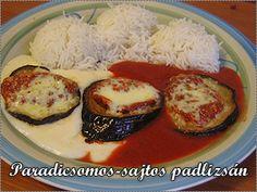 Paradicsomos-mozzarellás padlizsán kétféle mártással Evo, Grains, Rice, Urban, Recipes, Ripped Recipes, Seeds, Laughter, Korn