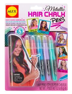 ALEX Toys Spa Metallic Hair Chalk Pens for sale online Alex Toys, Colored Chalk, Stocking Stuffers For Kids, Chalk Pens, Mudpie, Hair Chalk, Childrens Gifts, Pen Sets, Craft Kits