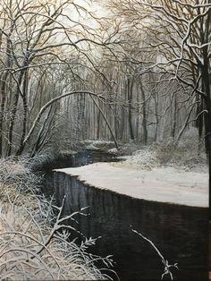 """Last Snow"", David Bottini ""for Gabriel"", 24 X 18"", 2016"