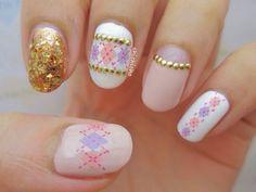 Argyle Diamond Water Decal Nail Art | chichicho~ nail art addicts