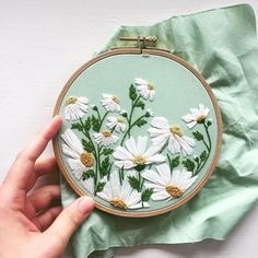 The most beautiful florals So much talent from @welcome.juniper #dmcthreads #dmcembroidery