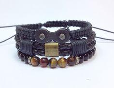 Kit de pulseiras masculinas, mens bracelets